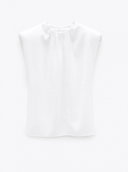 Zara - Top à épaulettes