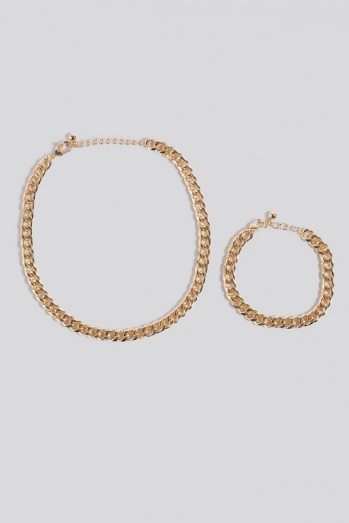 Na-Kd - Collier et bracelet en maillons