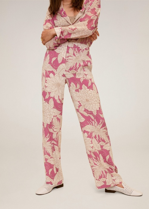 Mango - Pantalon fleuri