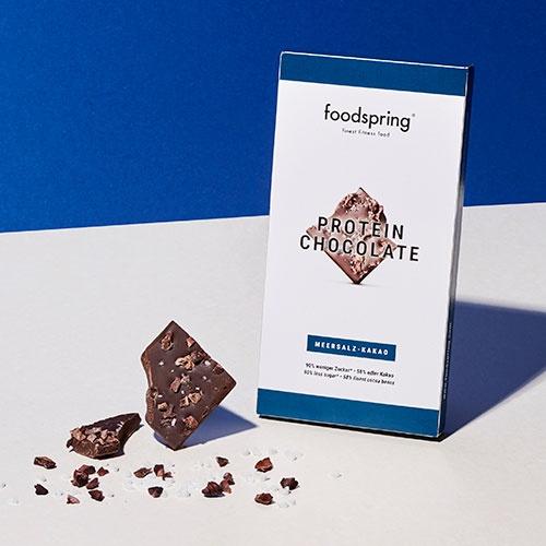 foodspring - Chocolat protéiné chocolat fleur de sel