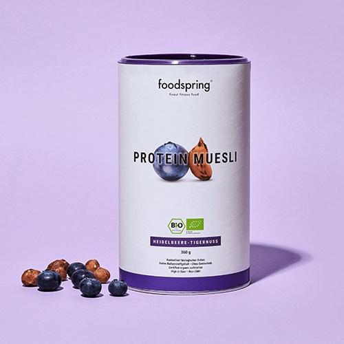 foodspring - Muesli protéiné myrtilles-noix tigrées