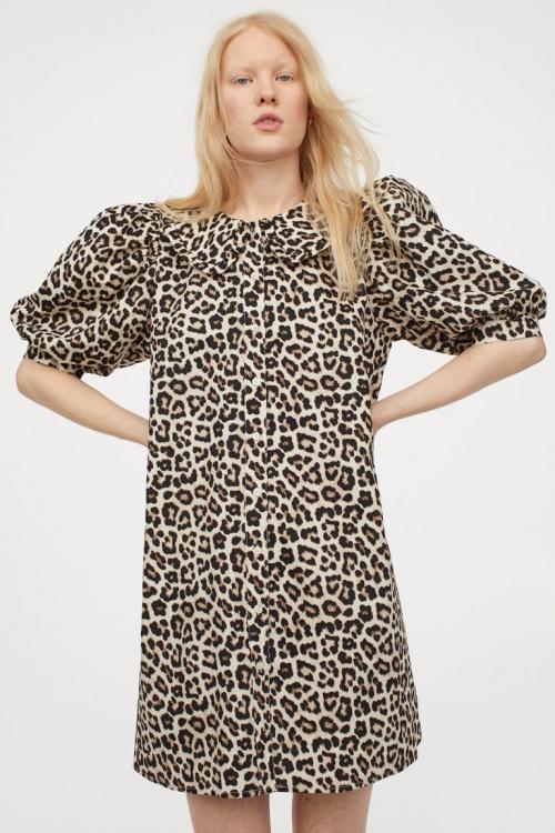 H&M - Robe imprimée léopard