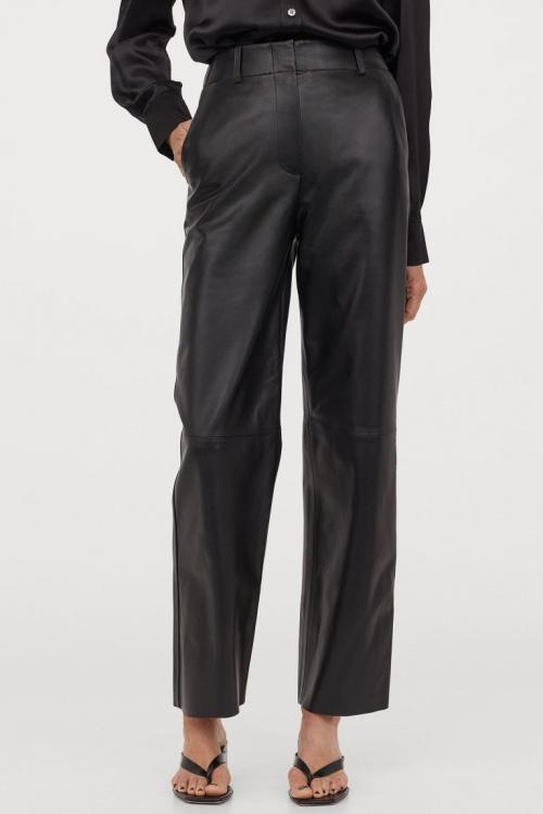 H&M - Pantalon droit en cuir