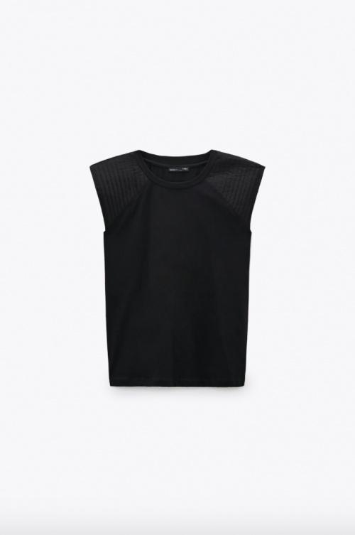 Zara - T-shirt à épaulettes