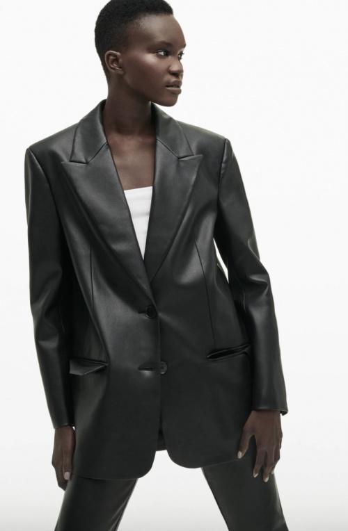 Zara - Blazer en similicuir
