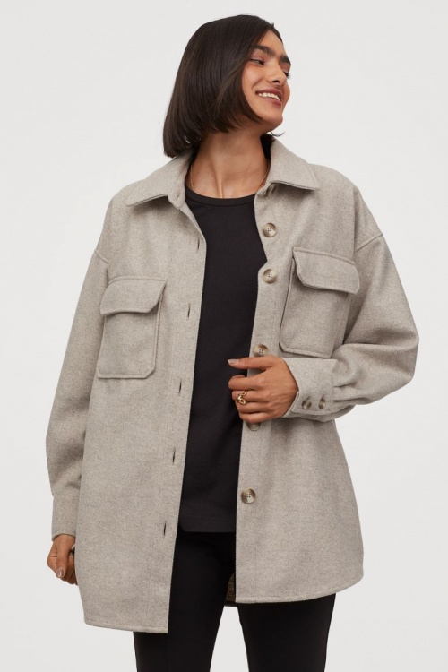 H&M - Surchemise en jersey