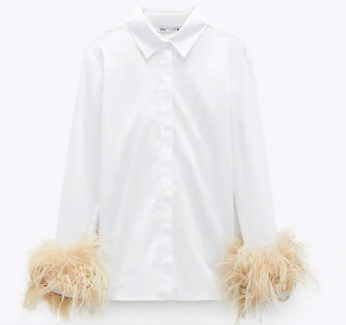Zara - Chemise avec plumes