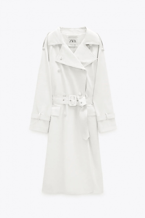 Zara - Trench cuir synthétique
