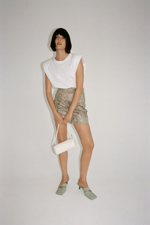 Zara - Mini jupe imprimée animal