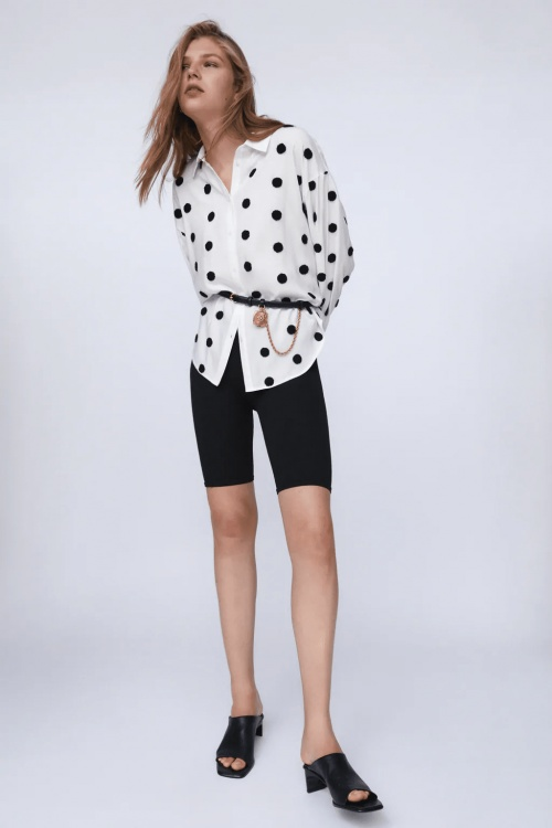 Zara - Chemise à pois