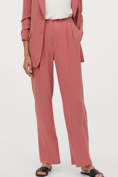 H&M - Pantalon habillé rose
