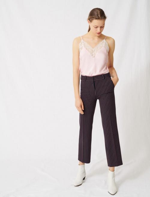 Maje - Pantalon tailleur rayé