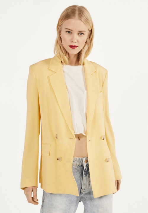 Bershka - Blazer jaune