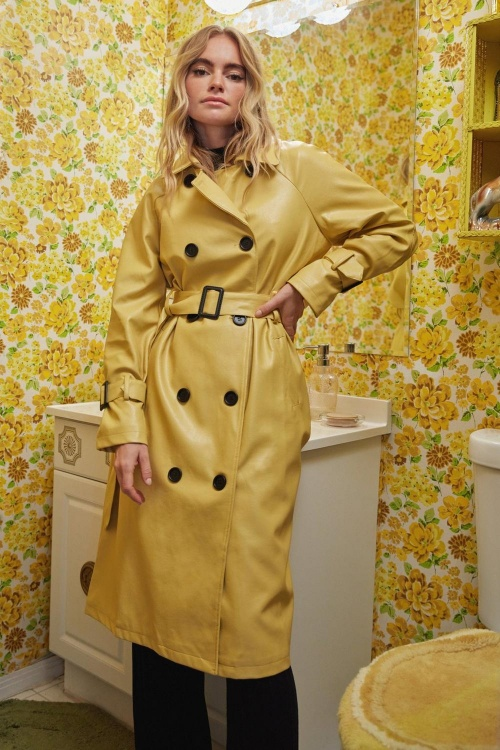 Nasty Gal - Trench en similicuir