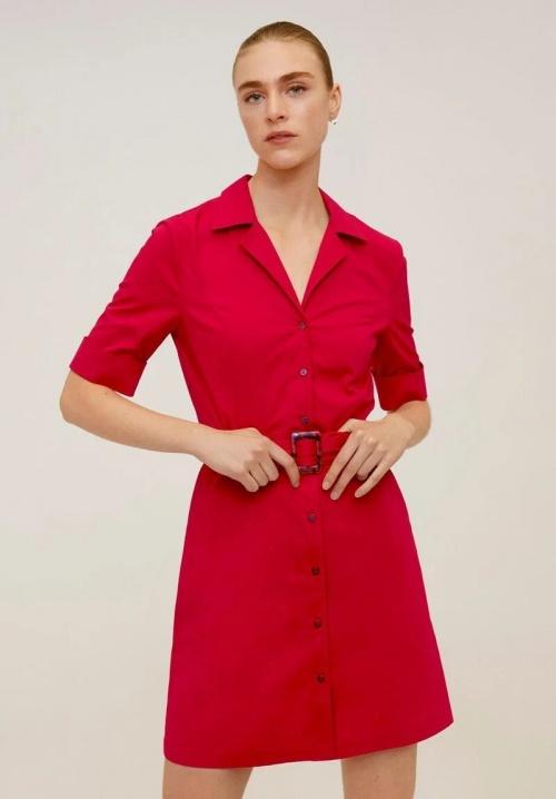Mango - Robe chemise à ceinture
