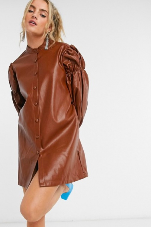 Ghospell - Robe chemise épaulettes