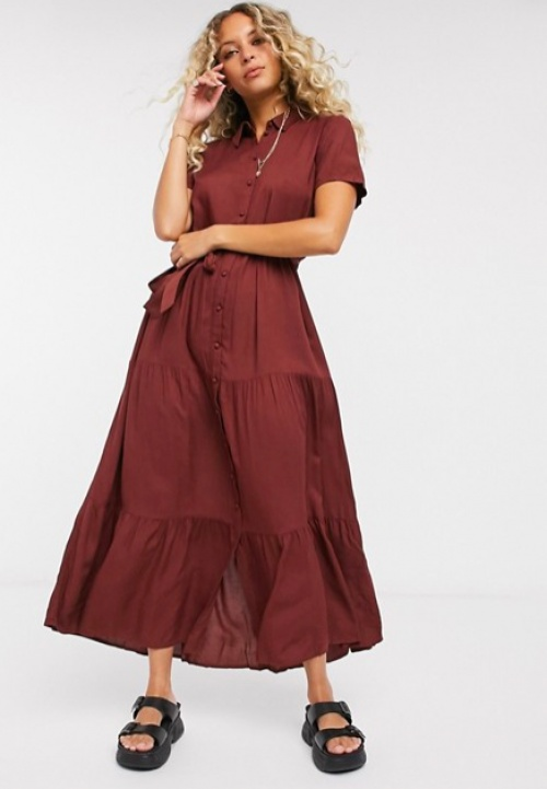 Vero Moda - Robe chemise longue