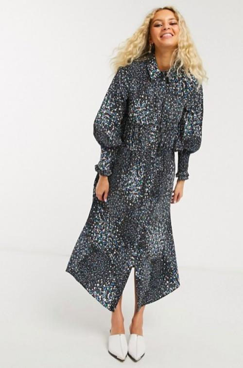 Topshop - Robe chemise longue