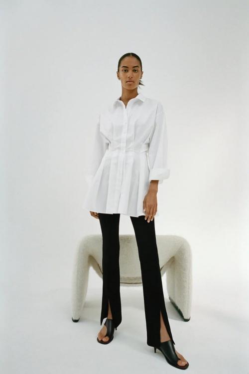 Zara - Robe chemise à pinces
