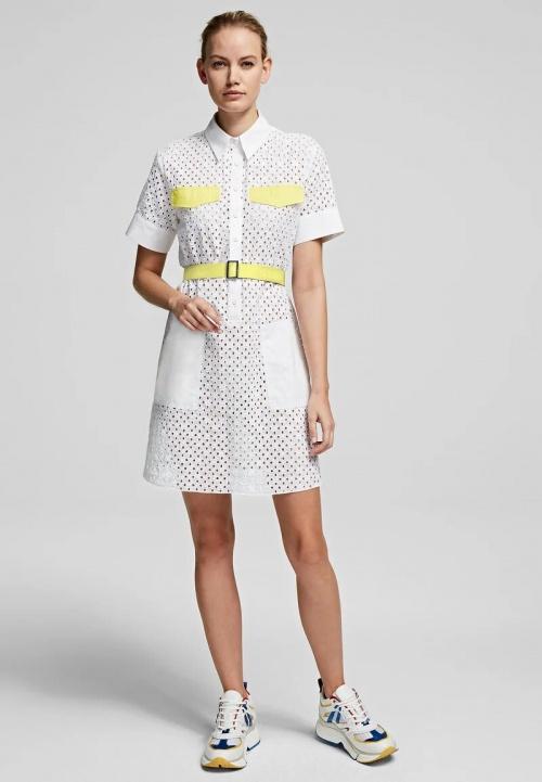 Karl Lagerfeld - Robe chemise imprimée