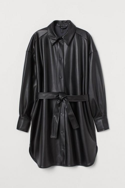 H&M - Robe chemise similicuir