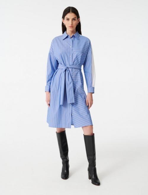 Maje - Robe chemise à rayures