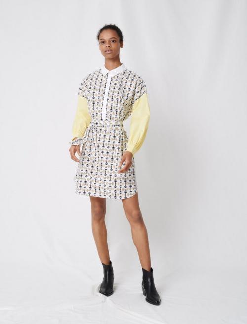 Maje - Robe chemise imprimée