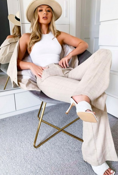 Asos DESIGN - Pantalon tailleur carreaux