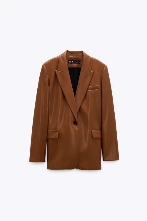 Zara - Veste en cuir synthétique