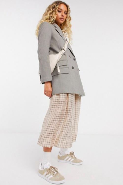 Selected Femme - Blazer croisé gris