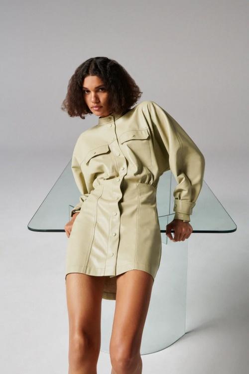Zara - Robe cuir synthétique