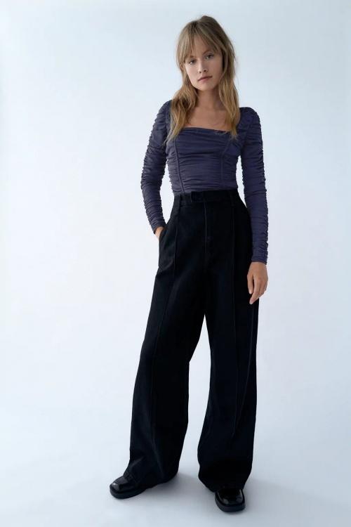 Zara - Body en tulle drapé