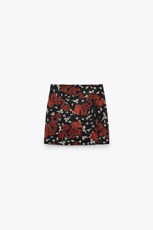 Zara - mini jupe imprimée
