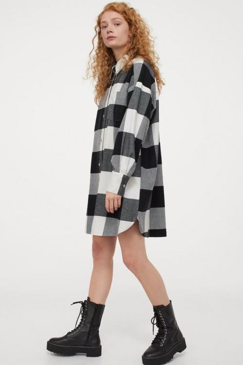 H&M - Robe chemise à carreaux