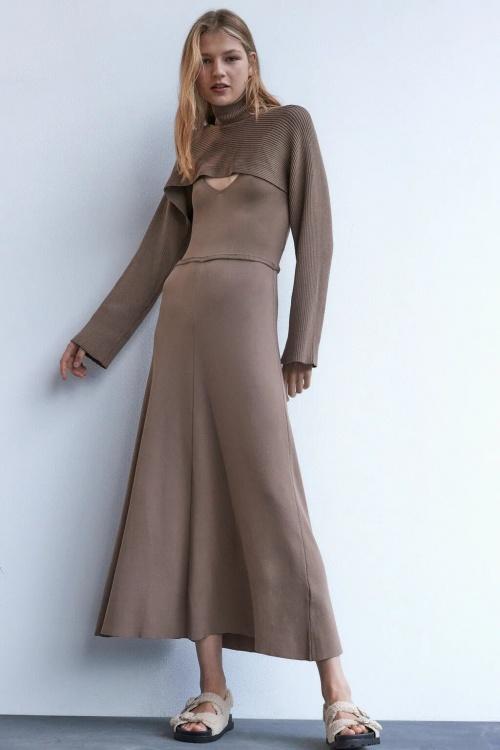 Zara - Manchons taupe