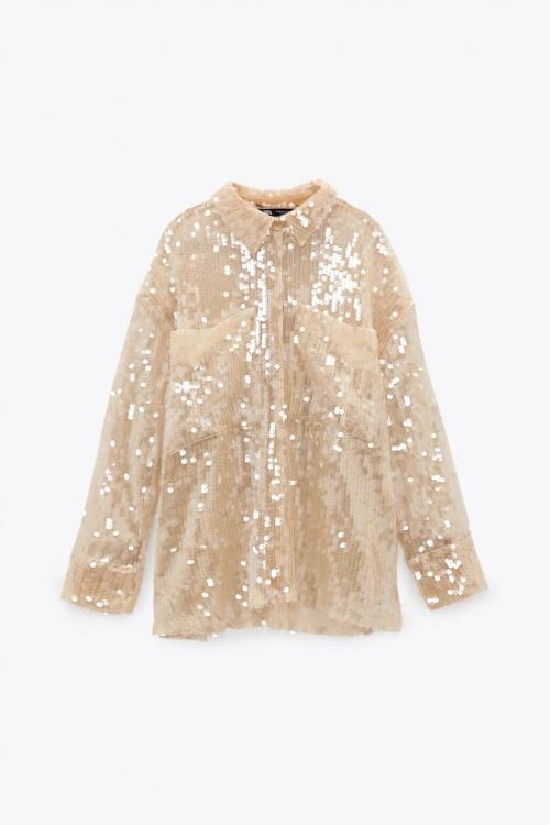 Zara - Chemise à paillettes