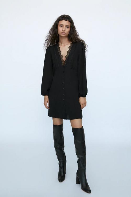 Zara - Robe courte avec dentelle