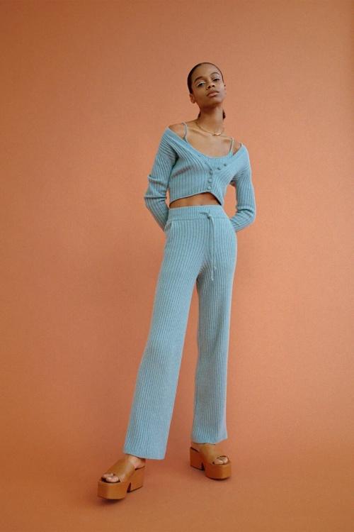 Zara - Pantalon en maille