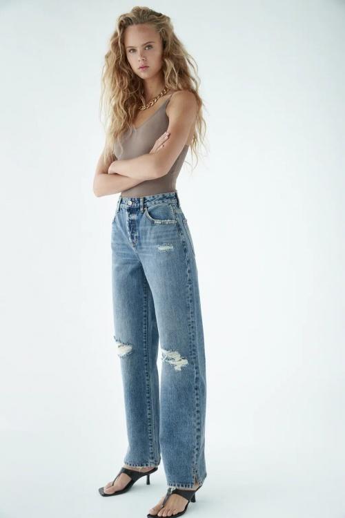 Zara - Jean large déchiré