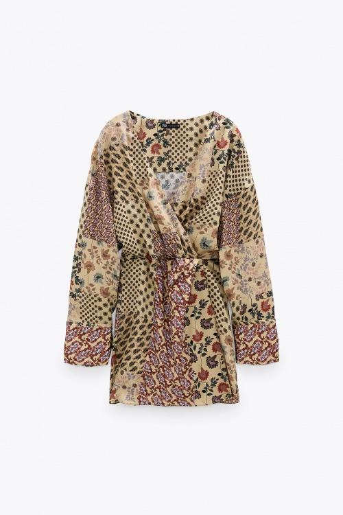 Zara - Robe combinaison fleurie
