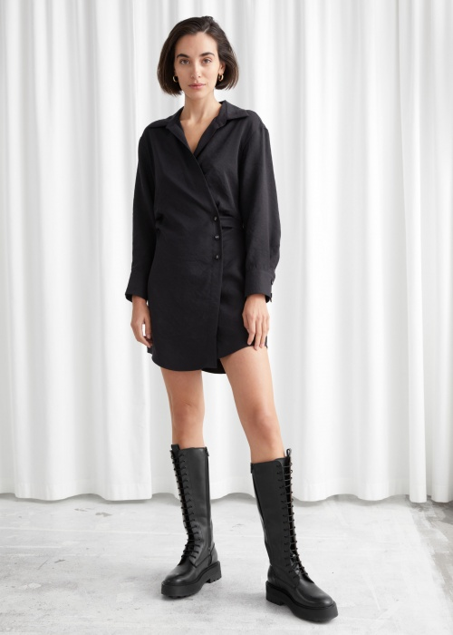 &Other Stories - Robe chemise courte