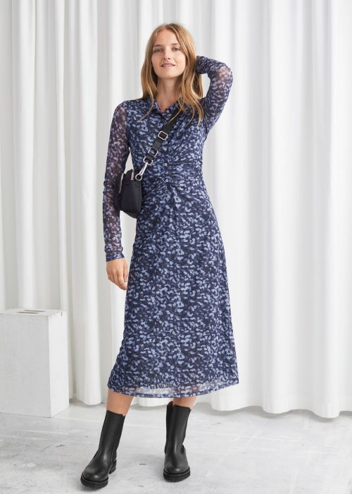 &Other Stories - Robe longue fleurie