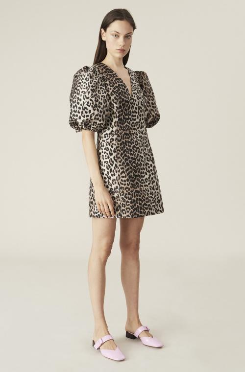 Ganni - Robe imprimée léopard