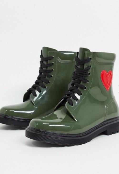 Love Moschino - Bottes de pluie verte