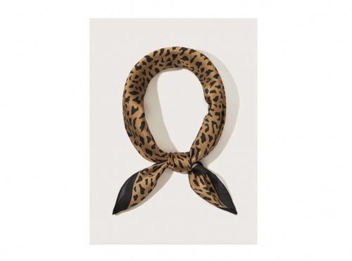 Romwe - Bandana avec motif léopard