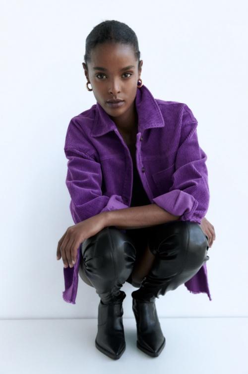 Zara - Surchemise en velours côtelé