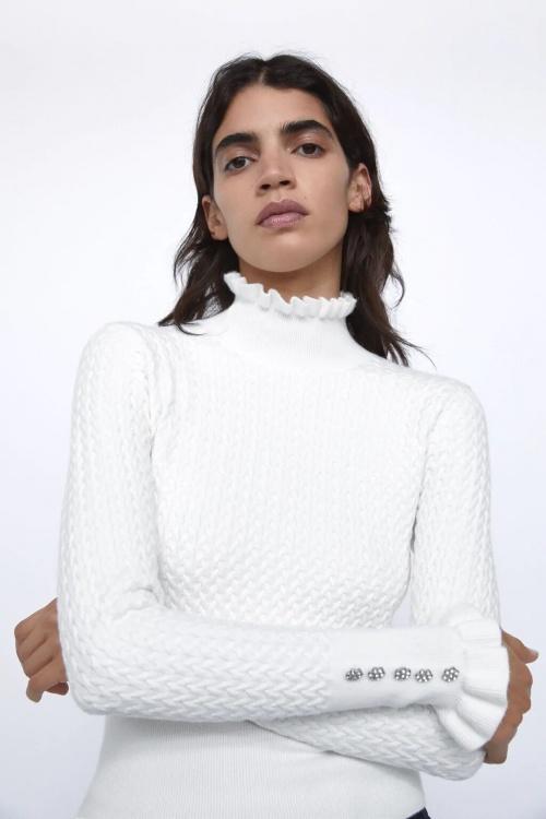 Zara - Pull en maille structuré