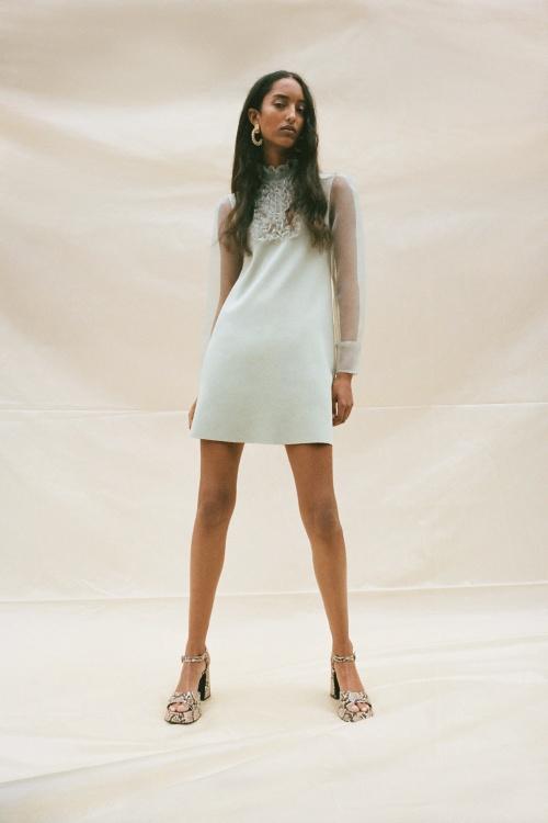 Zara - Robe en maille avec organza