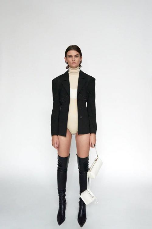Zara - Veste à coutures style corset