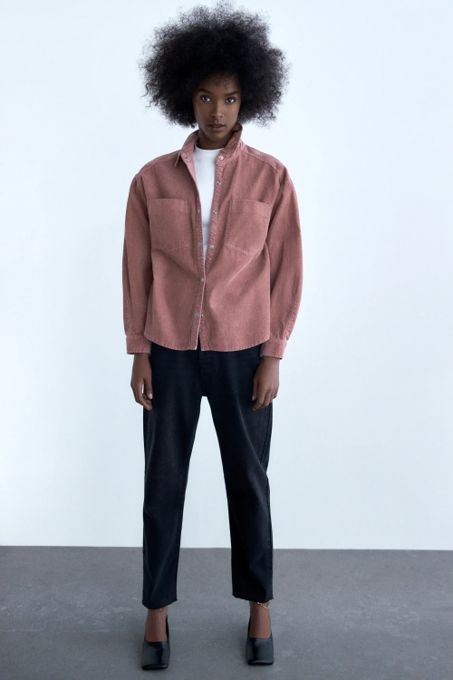 Zara - Surchemise en velours